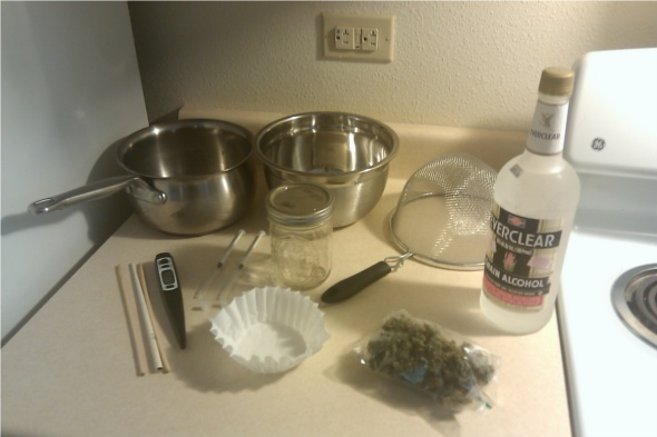 hash oil with everclear items